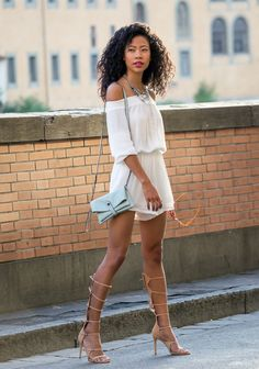 BlasianGurl, Victoria Kristine, Fashion Blog, Toronto, Toronto Blogger, Style, Dynamite Clothing, Romper, Aldo, Gladiator Sandals, Florence, Italy, Romper
