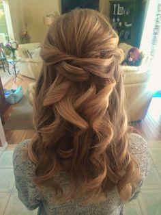 Wedding Bridal Hairstyle Half Updo by Ali, Long Island Makeup and Hair