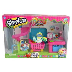 "Shopkins season 1 ""Small Mart"" playset with 2 exclusive Shopkins ""Margarina"" and ""La Lotion"""