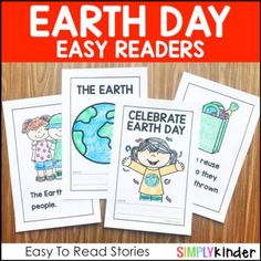 Earth Day Easy Readers by Simply Kinder | Teachers Pay Teachers Earth Day Video, Teaching Calendar, Recycling For Kids, Eco Label, Easy Reader, Types Of Packaging, Teaching Kindergarten, Early Learning, Anchor Charts