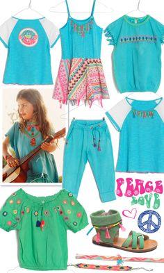 mim-pi summer 2014 hippy inspired collection, aqua t-shirt mim-336, dress mim-314, green top mim-307