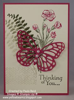 Yellowbear Stampin: Butterfly Basics Sympathy Card