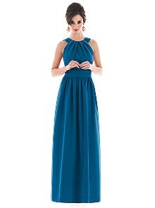 Alfred Sung Style D495 #blue #bridesmaid #dress