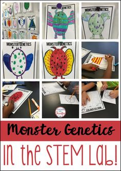 Monster Genetics in the STEM lab! STEM activities for Kids - Upper elementary dominant and recessive trait activity.