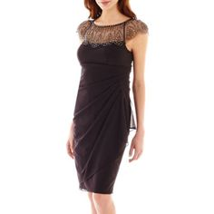 d412fa383 DJ Jaz Cap-Sleeve Beaded-Neck Ruched Dress found at  JCPenney Ruched Dress