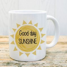 Taza good day sunshine #taza #mug #sunshine #goodday #buenosdias