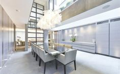 This former London pub was turned into a luxury house. The kitchen has top appliances, including brands like Sub Zero, Wolf and Miele. 5 Bedroom House, House Rooms, New Homes For Sale, Property For Sale, London Mansion, Expensive Houses, Best Dining, My Dream Home, Dream Homes