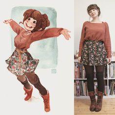 #sketcheveryday  #sketchbook #schmoelfie #ootd #wiw :D todays outfit more on dressesanddrawings.tumblr.com by schmoedraws