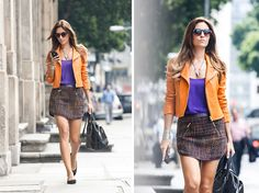 Street Style: tweed e mix de cores