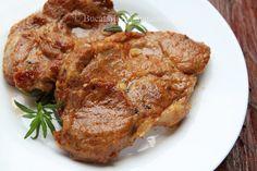 Ceafa de porc la cuptor - Bucataria Romaneasca Steak, Food And Drink, Recipes, Pork, Rezepte, Steaks, Recipies, Cooking Recipes, Recipe