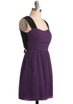 Amethyst and That Dress - Purple, Black, Solid, A-line, Sleeveless, Tank top (2 thick straps), Backless, Bows, Casual, Summer, Fall, Mid-length