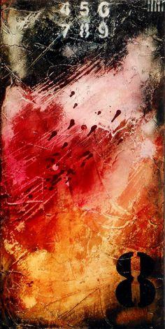URBAN DECAY 4, Art, Painting, Original Acrylic Mixed Media on Canvas. via Etsy.