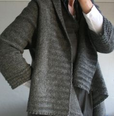 BT knits from Iceland: Ravelry user Gussie's cozy Eternity Cardigan. Pattern by Jared Flood.