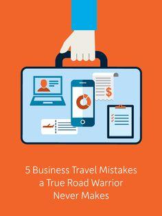 5 Business Travel Mistakes a True Road Warrior Never Makes #businesstravel #traveltips http://www.insperity.com/blog/5-business-travel-mistakes-a-true-road-warrior-never-makes?utm_source=pinterest&utm_medium=post&utm_campaign=outreach&PID=SocialMedia