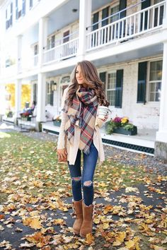 Autumn in New York Blanket Scarf. TheChicFind.com