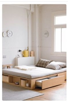 Storage bed bedroom diy