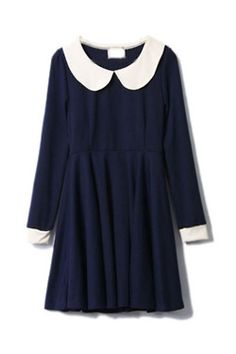 88f49ca8ea Navy + peter pan collar  Yes please. Peter Pan Collar Dress