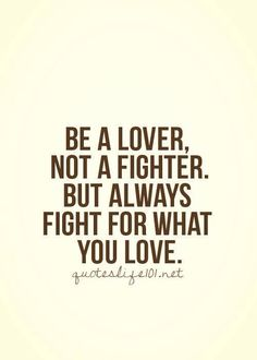 Be a lover..