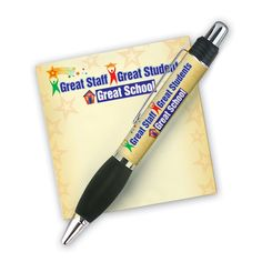 Great Staff Great Students Great School Sticky Pad & Pen Set | Positive Promotions