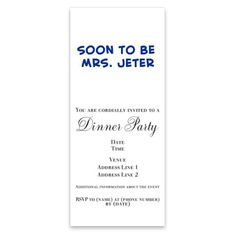 >>>Are you looking forSoon to be Mrs. Jeter Pink InvitationsSoon to be Mrs. Jeter Pink InvitationsWe provide you all shopping site and all informations in our go to store link. You will see low prices onThis DealsSoon to be Mrs. Jeter Pink InvitationsOnline Secure Check out Quick and Easy...Cleck Hot Deals >>> http://www.cafepress.com/mf/51016682/soon-to-be-mrs-jeter-pink_invitations?aid=112511996
