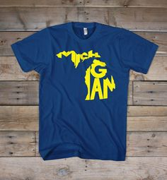 Michigan. The Great Lake State. The Mitten State.  Printed on the bold colors of the Bella+Canvas short-sleeve T-shirt. Extremely soft, durable and fashion fitting.  4.2 oz., 100% combed and ringspun cotton  *Machine wash cold & hang dry or dry at very low heat. Some shrinkage may occur. Please refer to the Sizing Chart to find the best fit for you.  © 2013 The Stately Shirt Company  www.thestatelyshirtcompany.com