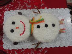 pastel de snowman