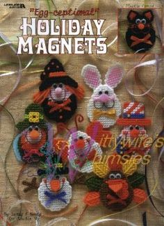 Free Plastic Canvas Magnet Patterns | PLASTIC CANVAS EGG-CEPTIONAL HOLIDAY MAGNETS 15 PATTERN - Plastic ...