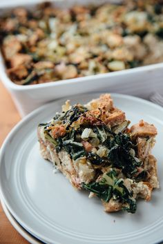 Swiss Chard and Sausage Bread Pudding