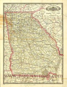 Georgia Railroad Map