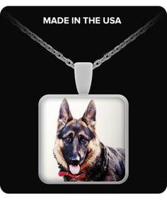 German Shepherd, Portrait #2 - Necklace