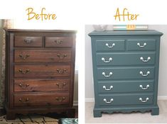 Painting used furniture can save you loads of money! Here is a step-by-step tutorial of how an old dresser found new life for a little girl's room. Lots of other before and after projects on this site as well. #paintingfurniture