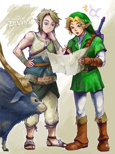 Hah! This is awesome. OoT and TP meet. :)