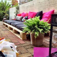 lounge para jardin con palets