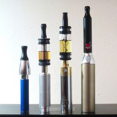 My favorite electronic cigarettes. From left: pure air, Sparky SP3 + 510DCT, Super Tanker 1400 + LED-Clearomizer-Tank, King Kong + eGo-DC   We have the latest e-cigarette models and a great variety of e-liquid flavors. Visit us at www.e-cigarilicious.com