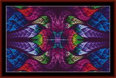 Fractal 553 cross stitch pattern byCross Stitch Collectibles