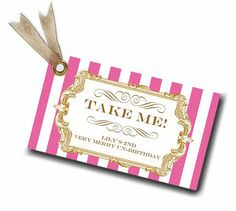Alice in Wonderland Favor Tags  Gilded Alice in by LoraleeLewis, $20.00