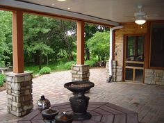 like the stones surrounding the base on the deck posts