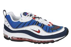 "Nike Air Max 98 ""White, Red & Obsidian"" Release Date - EU Kicks Sneaker Magazine"