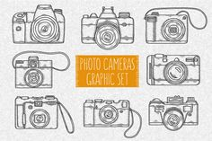 Photo Cameras Graphic Set by chelovector on Creative Market