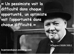 Difficulty is opportunity. Winston Churchill, Positive Attitude, Positive Quotes, Quote Citation, Positive Inspiration, French Quotes, Meaningful Quotes, Education Quotes, Famous Quotes