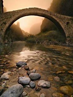 Beautiful Portals around the World !! - Bridges to Babylon , Misty morning at Kokorou's bridge ( Epirus, Greece Spring 2009 ).