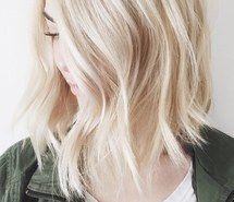 Inspiring image blonde, bob, girl, hair, hairstyle, hairstyles, lob, platinum…