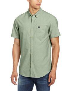Amazon.com: RVCA Men's That'll Do Oxford Short Sleeve Shirt: Clothing