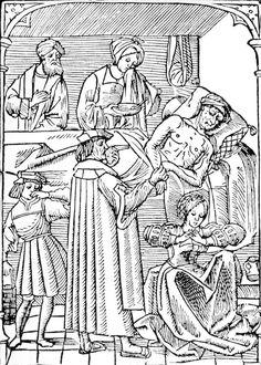 the black death woodcut