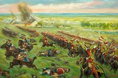 'Vive l'empereur!' Waterloo; the Charge of the Lancers of the Guard Led by Général Baron de Colbert, 8th June 1815