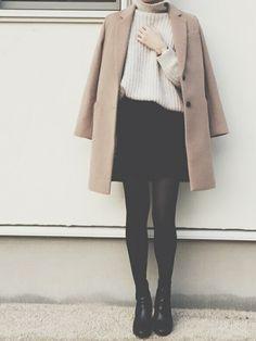 Enterizo 269275 - Now Outfits Ulzzang Fashion, Asian Fashion, Look Fashion, Winter Fashion, Girl Fashion, Fashion Outfits, Womens Fashion, Fashion Trends, Winter Outfits