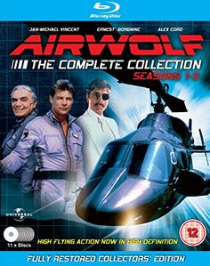 Airwolf (American TV Show Starring Jan-Michael Vincent & Ernest Borgnine Sci Fi Series, Tv Series, Sci Fi Shows, Tv Shows, 1980s Tv, Ernest Borgnine, Amazon Dvd, Classic Sci Fi, Dvd Set
