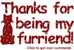Thanks For Being My Furrriend Brown Glitter Glitter Graphic, Greeting, Comment, Meme or GIF