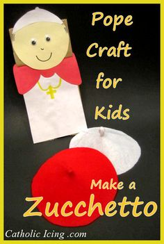 pope craft for kids zucchetto w
