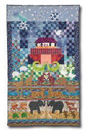 Noah's Ark quilt, charming.